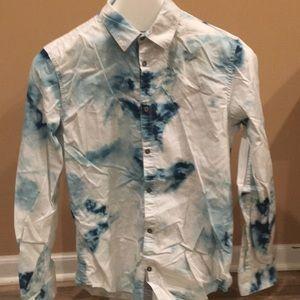 Vintage Calvin Klein Men's button down shirt.